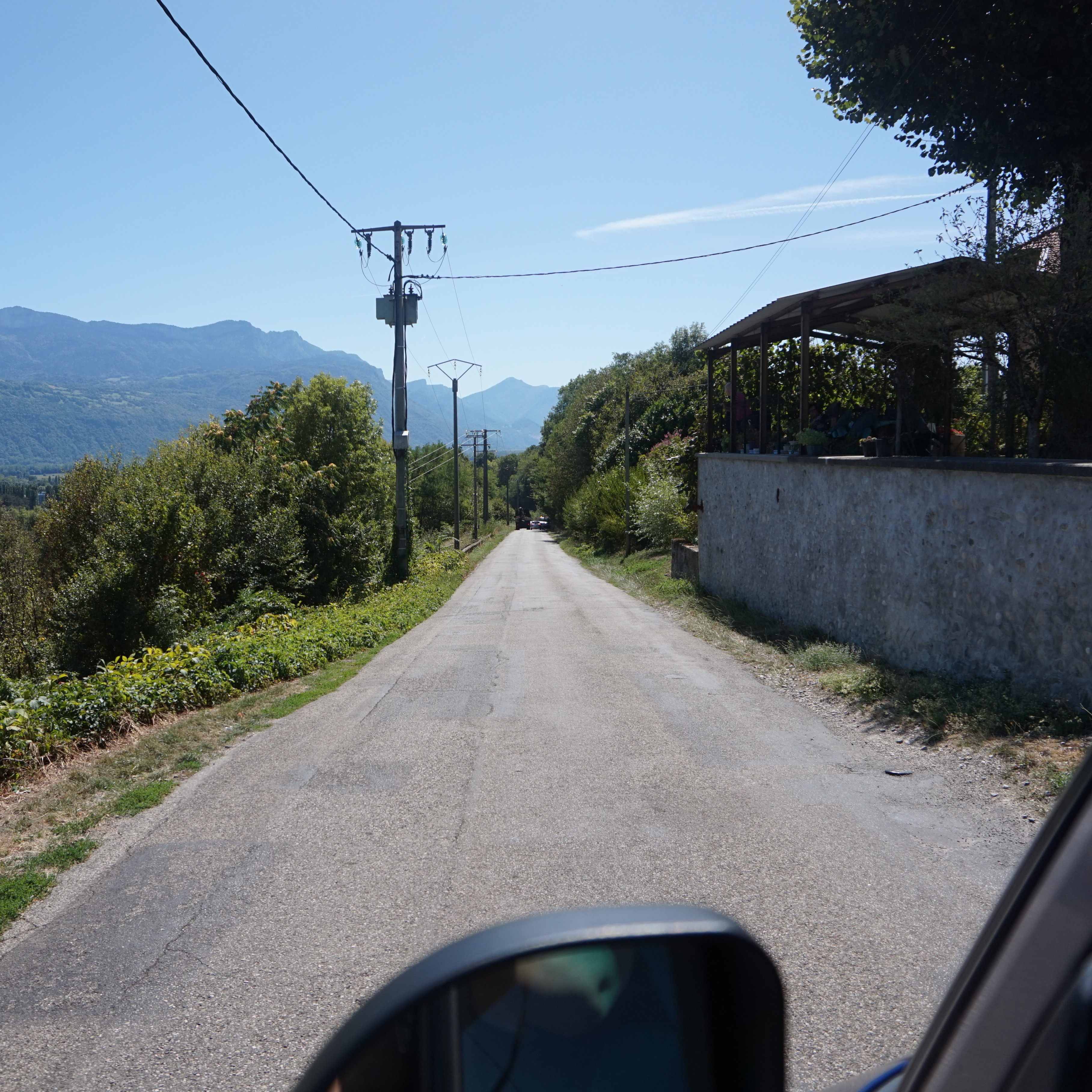 Empty French road
